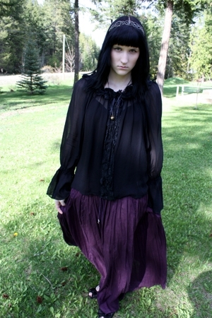 random skirt - random shirt - garage top - jessica sport shoes - necklace - acce