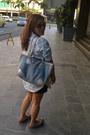 Light-blue-denim-neiman-marcus-bag-hot-pink-suelas-flats