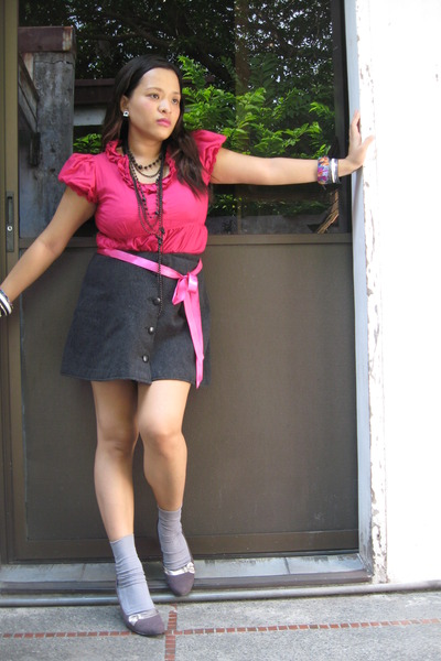 pink from night market blouse - Armani Exchange skirt - from dept store belt - p