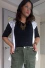 Black-random-blouse-white-thrifted-top-green-qggq-pants-shoes-random-nec