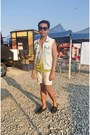 Dark-gray-shoes-light-yellow-shirt-shorts-light-blue-forever-21-vest