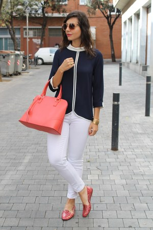 Zara shirt - Primark bag - Melissa flats