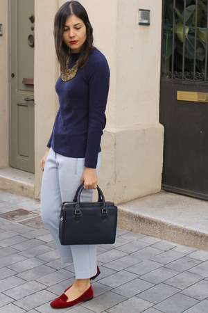 Zara bag - Promod necklace - H&M pants - Zara jumper - Zara flats