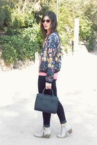 Zara jacket - Bershka jeans - Zara bag - asos sunglasses