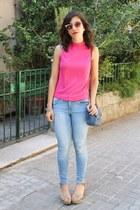 Topshop top - Zara jeans
