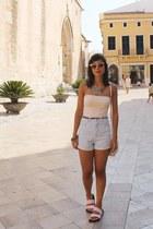 pull&bear shorts - Zara sandals