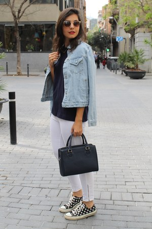 Converse sneakers - Stradivarius jeans - pull&bear jacket - Zara bag