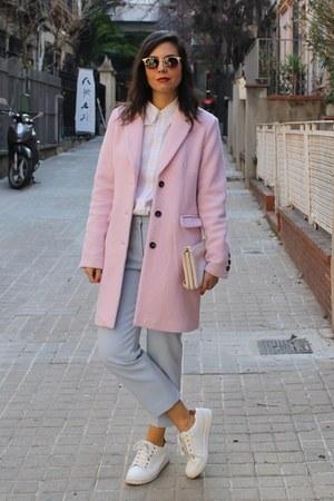 Bershka coat - H&M pants
