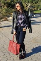 Zara shirt - Zara jeans - Stradivarius bag - Zara wedges