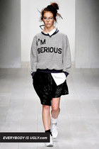 heather gray im serious ashish sweater
