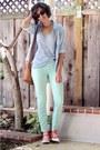 aquamarine mint BDG jeans