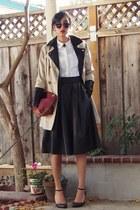 black pleather H&M skirt