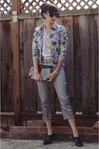 silver asos pants