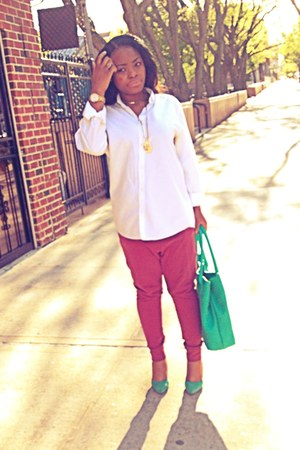 H&M shirt - Nine West bag - H&M pants - heels