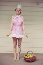 pink spot yellowcake dress