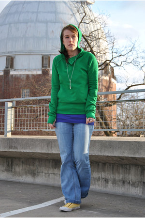green H&M sweatshirt - yellow Philip Simon sneakers