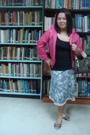 deca skirt - NafNaf blazer - SM shirt - Segue bag