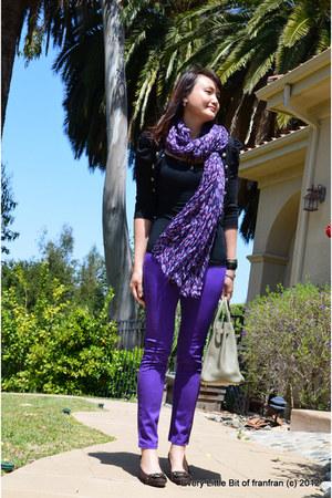 skinny jeans unknown brand pants - leopard scarf unknown brand scarf