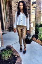 camel ny & co pants - black Jessica Simpson shoes - black Furla bag