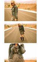 Forever 21 dress - Forever 21 boots - vintage jacket