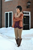 tawny Forever 21 blazer - brown rider 18 Breckelles boots