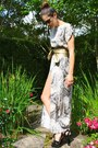 Python-print-zara-dress-wrap-around-zara-belt-platform-prada-heels