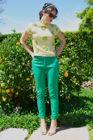 cat eye Celine sunglasses - gold Sergio Rossi heels - crocodile Zara pants - met