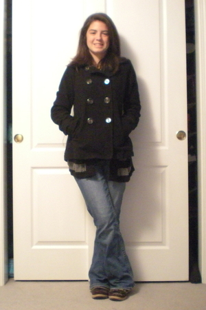 Aeropostle jacket - Express sweater - Forever 21 t-shirt - American Eagle jeans