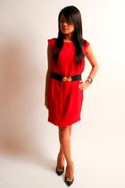 Zara dress - f21 belt - Saks 5th Ave shoes