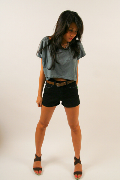 aa top - Urban Outfitters shorts - Jessica Simpson shoes
