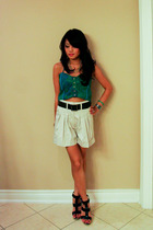 Urban Outfitters top - Burberry shorts - Chinese Laundry shoes
