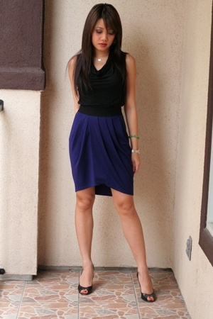 banana republic top - f21 skirt - Marc by Marc Jacobs shoes - Viv & Ingrid neckl