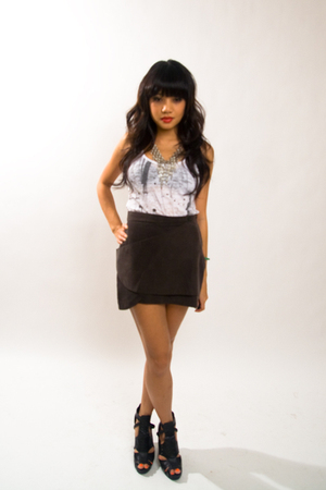 f21 top - H&M skirt - asos shoes - f21 necklace