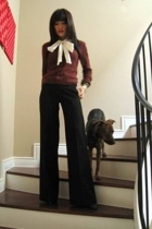 Forever21 sweater - Forever21 blouse - French Connection pants