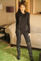 Love YaYa jacket - Target jeans - Steve Madden boots