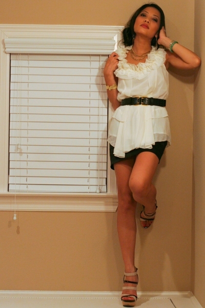 f21 top - f21 skirt - Modern Vintage shoes - Urban Outfitters belt