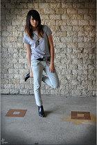 shirt - jeans - boots