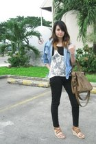 jacket - shirt - top - jeans - shoes