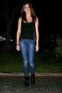 Black-stradivarius-shirt-silver-stradivarius-vest-blue-h-m-jeans-black-zar