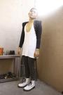 Black-norikoke-blazer-gray-dept-store-stockings-white-dr-martens-boots-whi
