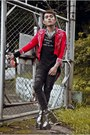 Ruby-red-paradigm-shift-jacket-silver-gold-dot-shoes