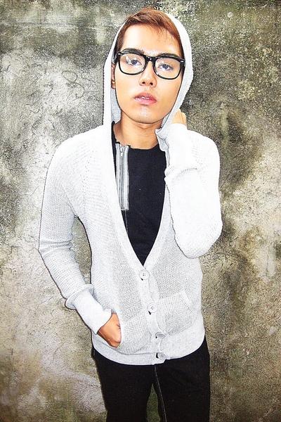 Topman sweater - 25 cm shirt - Topman pants - glasses