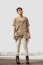 brown DIY shirt - beige Oxygen pants - brown Soule Phenomenon shoes