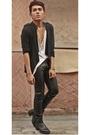 Black-helmut-lang-jacket-black-terranova-pants-black-guiseppi-zanotti-boots-