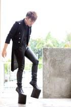 black brian evalle boots - black De SU jacket - black Paradigm Shift shirt