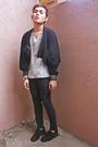 Black-jacket-black-pants-gray-zara-shirt-black-nine-west-shoes-gold-cros