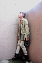 green Japan jacket - green DREX FABLE top - beige Oxygen pants - brown Soule Phe