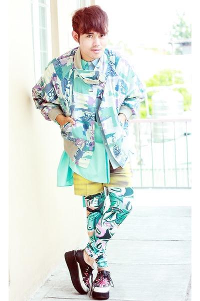 Asian Vogue shoes - jacket - IconiQue leggings - Kenzo shirt