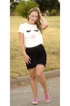 DressLink shirt - Vero Moda skirt - Superga sneakers