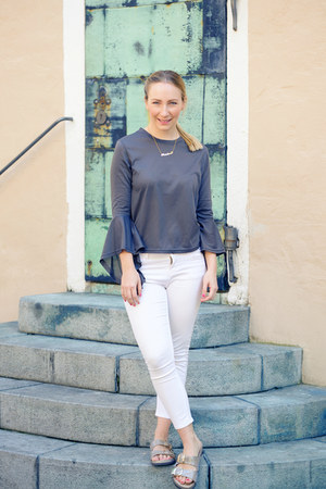 sammydress shirt - Zara pants - white mountain sandals